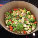 Romanesco Cauliflower and Carrots